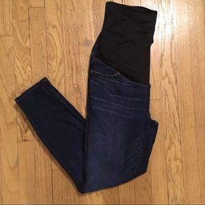 Loft distressed skinny maternity jeans